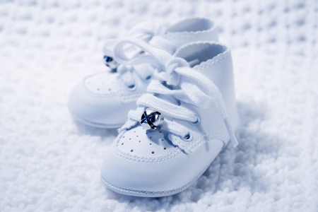 Pair of Babies first shoes photo