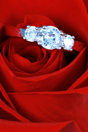 Wedding Ring in Rose, Will you marry me? photo