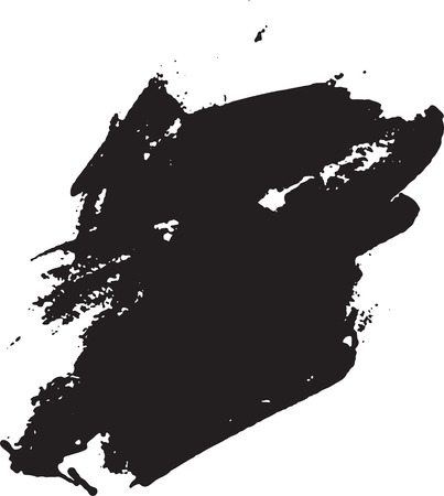 白いペンキの黒いブロブ