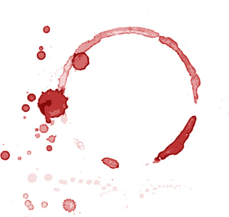 Blood mark on white