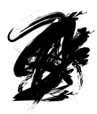 black ink: Black ink blob Illustration
