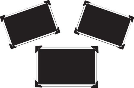Blank Picture with photo corners Ilustração