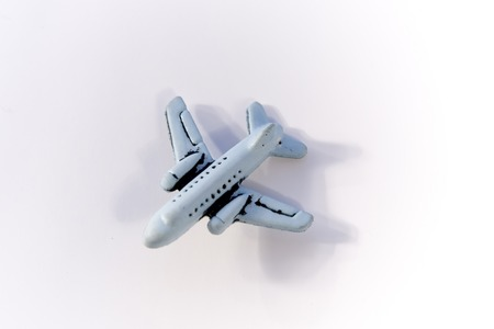 Airplane on white