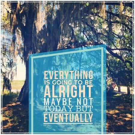 Inspirational Typographic Quote photo