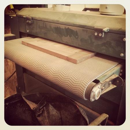 Holzfäller-Maschine mit Vintage-Effekt Standard-Bild - 33354962