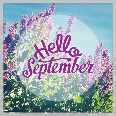 Welcome september Quote Banco de Imagens