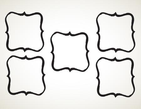 penmanship: ornamental penmanship decorative frame, hand drawn