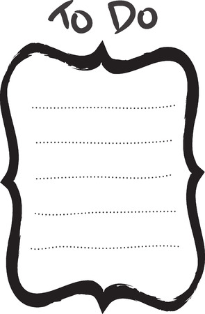 dry erase: TO DO LIST. Add your own list, notes or drawings for home, office & school.