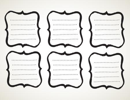 penmanship: Vector calligraphy ornamental penmanship decorative frame, hand drawn