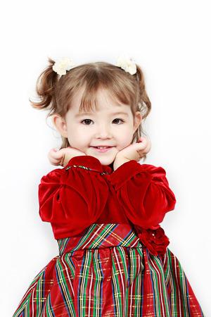 generration: Little Baby Girl in pink dress Stock Photo