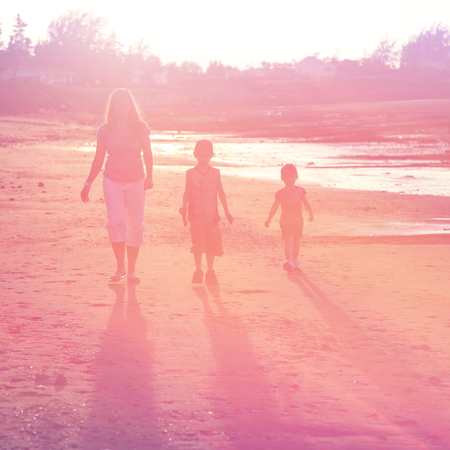 Family Outdoors at Beach photo