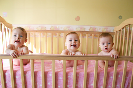 Little Baby Girls in crib together