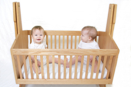 generration: Little Baby set of Twins in crib - only one baby!