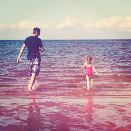 Family Outdoors at Beach photo