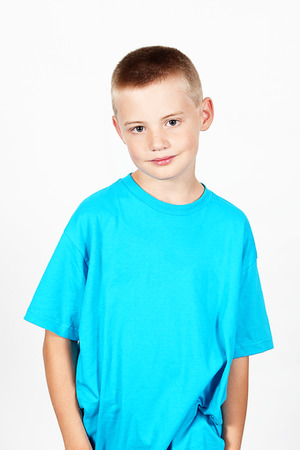 8 year old: 8 year old Boy with white background