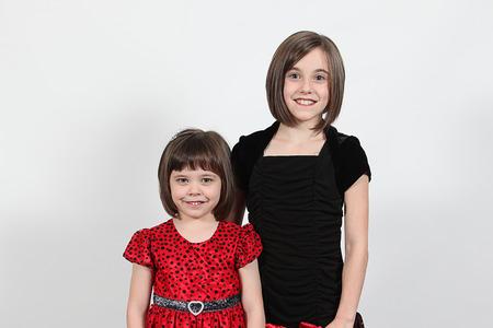 potrait: Potrait of young sisters