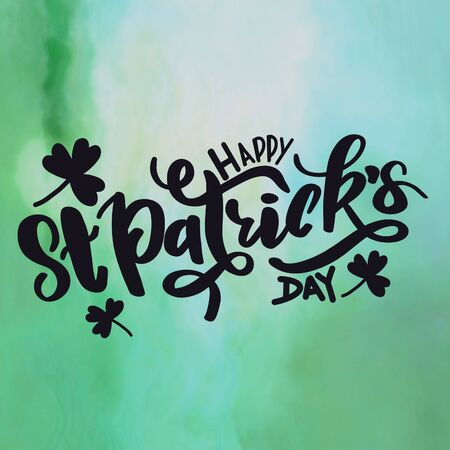Quote - Happy St. Patricks Day with green background
