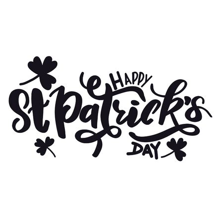 Quote - Happy St. Patrick's Day with white background