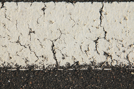 road mark: White road mark texture close up