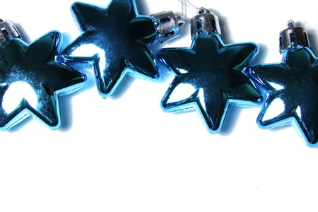 glass ornament: Christmas background with glass ornament in star shape Stock Photo