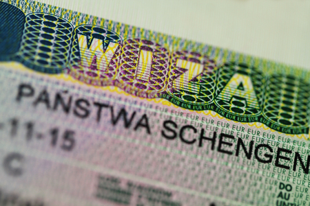schengen: Schengen visa close up