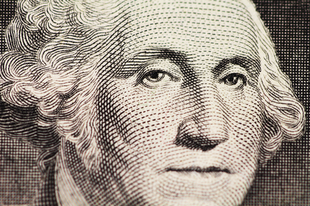 alexander hamilton: il ritratto di Washington sul dollaro Archivio Fotografico