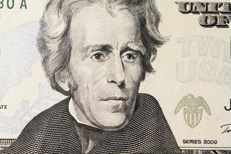 alexander hamilton: ritratto di Jackson sul dollaro Archivio Fotografico