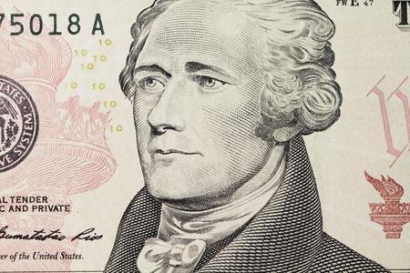 alexander hamilton: ritratto di Hamilton sul dollaro