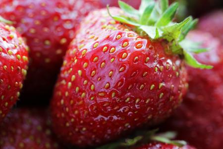 close up food: Strawberry food background close up macro photo