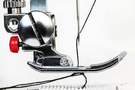 Sewing machine close up detail Stock Photo