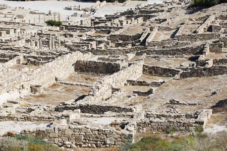 Acropolis of Kamiros ancient greek stone city top view
