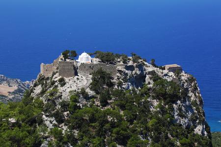 Monolithos castle landscape view on rhodes island Greece Stock Photo - 119230985