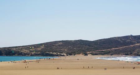 Prasonisi beach in Greece Rhodes island sand beautiful landscape view