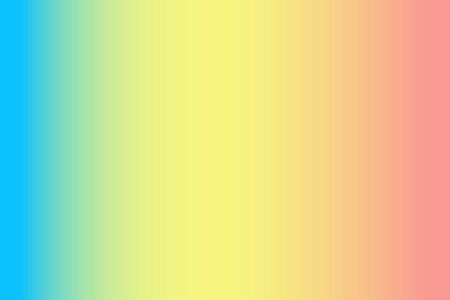 Gradient abstract background in bright colors in a trendy style, suitable for the design of social media, landing pages, web banners. Three shades were used - pastel turquoise, yellow and coral.