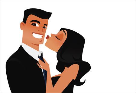 besos apasionados: Vector de seductor irresistible  Vectores