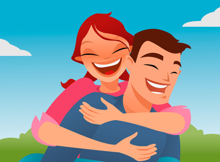 romantic getaway: Piggyback vector