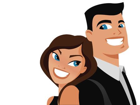 handsome: Happy couple vector