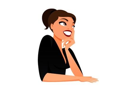 sorriso donna: Bruna in pensieri