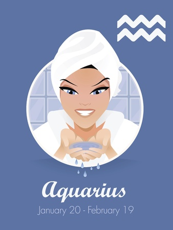washing symbol: Aquarius  zodiac sign