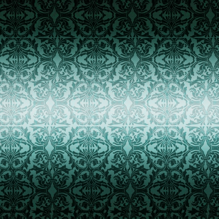 Retrobackground in petrol with pattern, gradient light photo
