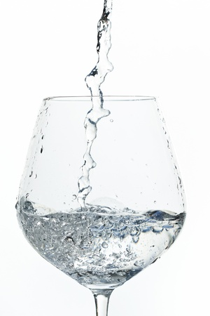 water pouring into a glass Stock Photo - 18219407