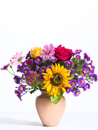 Fall bouquet before white background Stock Photo - 23981755