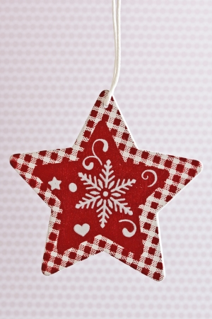 Red and white Christmas star paper ornament Stock Photo - 24197508