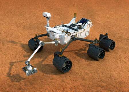 curious: NASA Curiosity Mars rover Stock Photo
