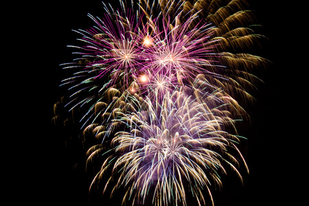 2013 New Years Eve fireworks in Melbourne, Australia photo