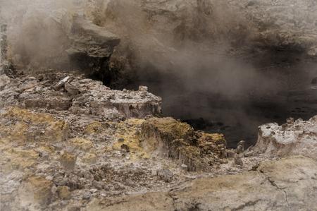 bubbling: Bubbling mud Stock Photo