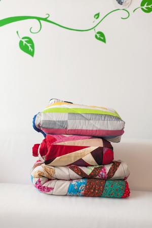 patchwork: Patchwork quilt. Handmade.