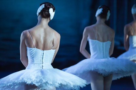 balletic: Ballet swan lake. Ballet statement. Ballerinas in the movement. Feet of ballerinas close up.