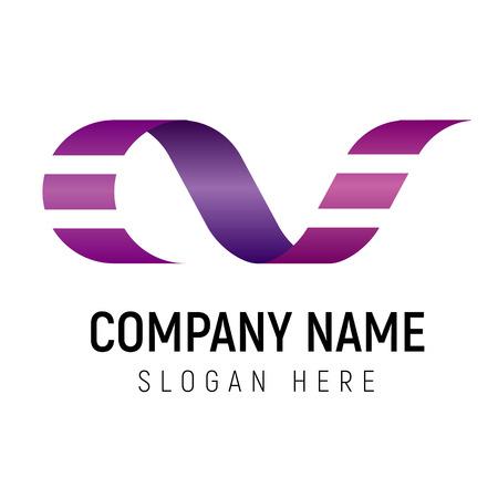 Film strip logo vector sjabloon. Logotype kan worden gebruikt voor mediabedrijf, filmproductiemaatschappij of bioscoopkritiek. AF eerste letters.