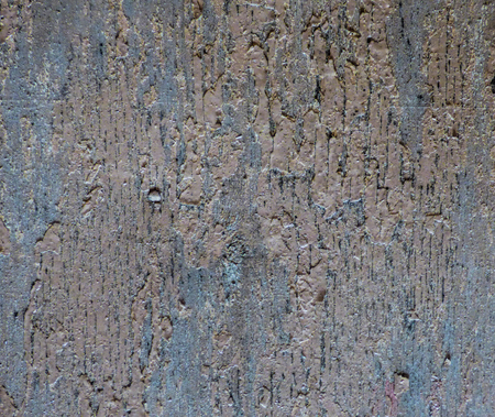 Old wooden board texture with rest of paints, cracks and spots. Grunge background - aged lumber surface. Weathered wood structure with place for text.